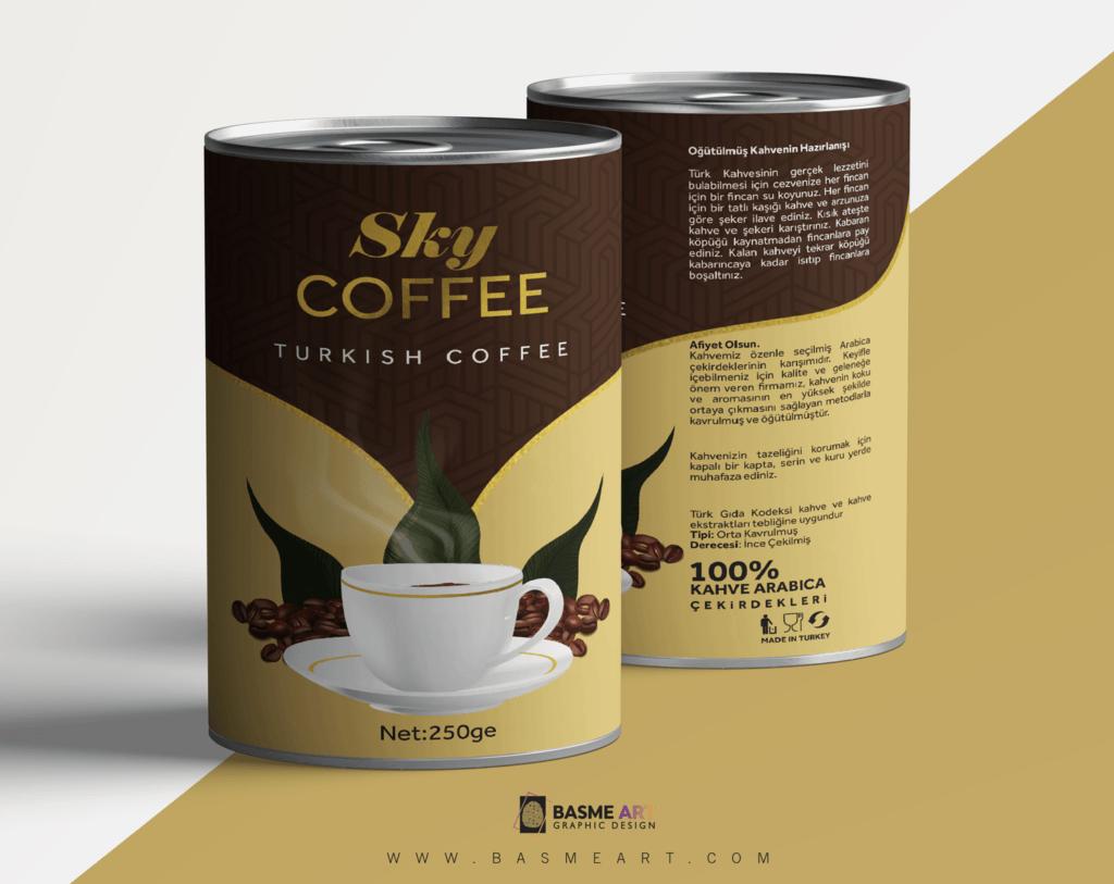 علبة قهوة